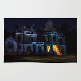 Castle on fire Rug