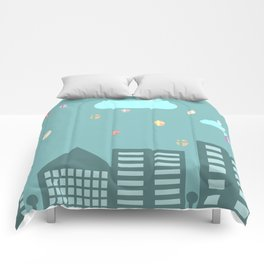 Easter town Comforters
