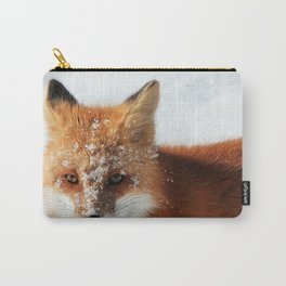 Snowy Faced Cheeky Fox with Tongue Out Carry-All Pouch