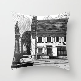 Montboudif, birthplace of Geoges Pompidou Throw Pillow