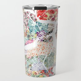 Boston map portrait Travel Mug