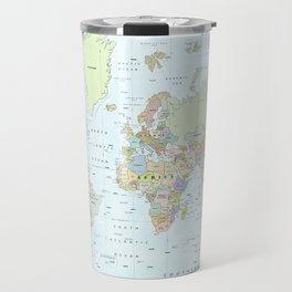 World Atlas & Bathymetry Map [color version] Travel Mug