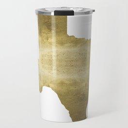 texas gold foil print state map Travel Mug