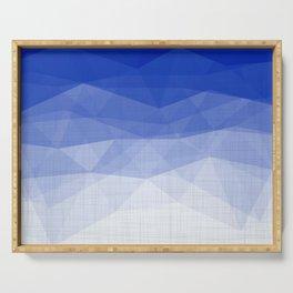 Imperial Lapis Lazuli - Triangles Minimalism Geometry Serving Tray
