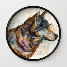 WOLF#1 Wall Clock