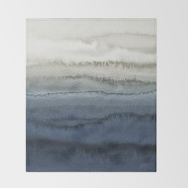 WITHIN THE TIDES - CRUSHING WAVES BLUE Throw Blanket