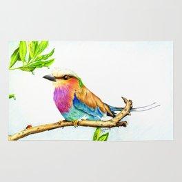 Lilac Roller Bird Rug