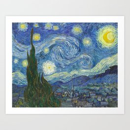 Starry Night - Vincent Van Gogh Art Print