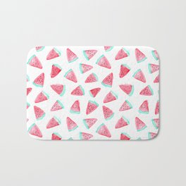 Watermelon watercolor pattern Bath Mat