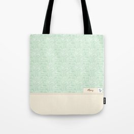 Mary - Mint and Cream Tote Bag