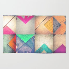 Bright Triangles Rug
