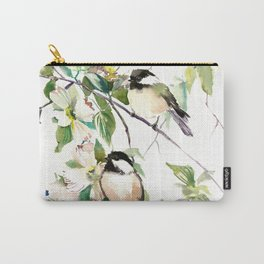 Chickadees and Dogwood Flowers Carry-All Pouch