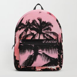 Tropical Trees Silhouette Backpack