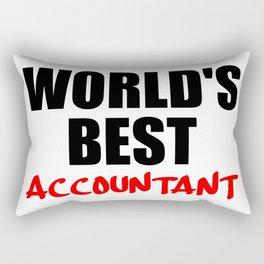 worlds best accountant Rectangular Pillow