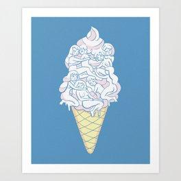 Cute Icecream Art Print
