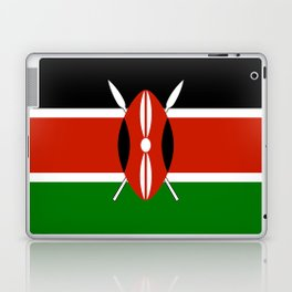 National flag of Kenya - Authentic version, to scale and color Laptop & iPad Skin