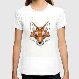 Geometric Fox - Abstract, Animal Design T-shirt