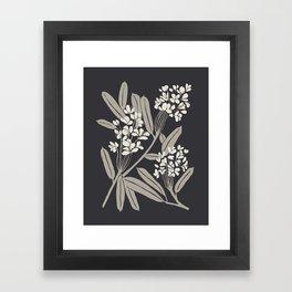 Boho Botanica Black Framed Art Print