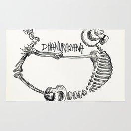 """""""Dhanurasana"""" Skeleton Print Rug"""