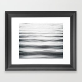 Black and White Water Ripple Photography, Grey Ocean Wave Art, Gray Sea Waves, Neutral Modern Photo Framed Art Print