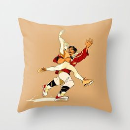 Damen & Laurent skating AU Throw Pillow
