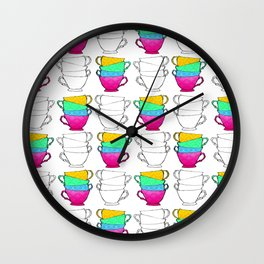 Tea Cup Pattern Wall Clock