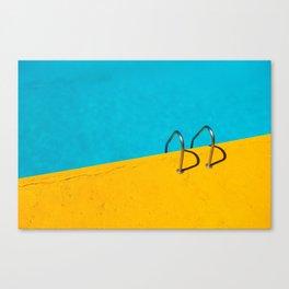 yellow blue pool Canvas Print