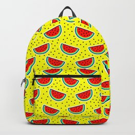 Watermelon on yellow Backpack