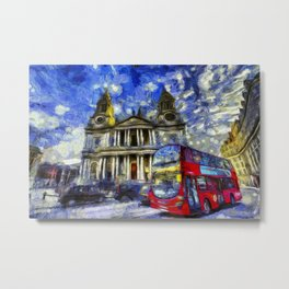 Vincent Van Gogh London Metal Print