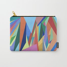 Colorful Triangle Pattern Carry-All Pouch