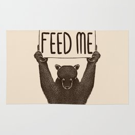 Feed Me Bear Rug