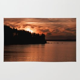 Red Sky At Night Photography Print Rug