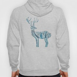 green deer watercolor Hoody