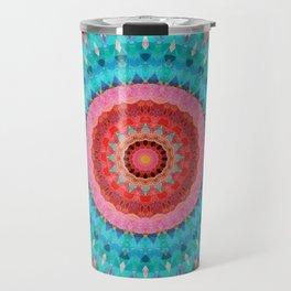 Mandala-turquoise Kaleidoskope Travel Mug