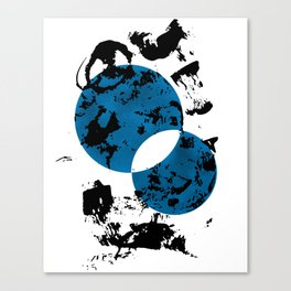 Blue & Black Canvas Print