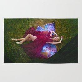 Eternal sleep of the butterfly Fairy Rug