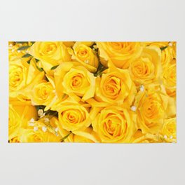 YELLOW ROSES CLUSTERED Rug