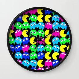 Pacman wallpaper Wall Clock