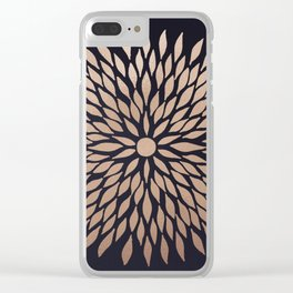 Rose Gold Flower Clear iPhone Case