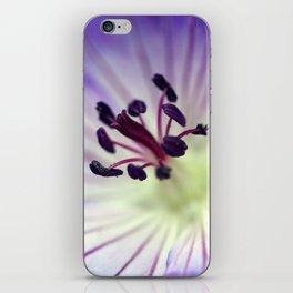 Purple Cranesbill iPhone Skin
