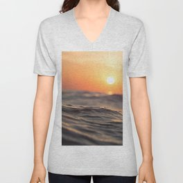 Sunset Wave Unisex V-Neck