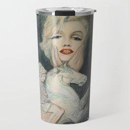 Marilyn - oh diese Männer! - Ölgemälde Travel Mug
