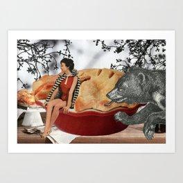 cherry pie Art Print