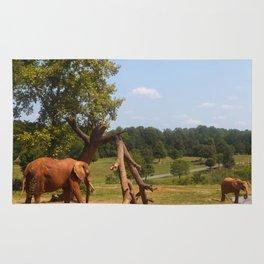 Red Elephants Rug