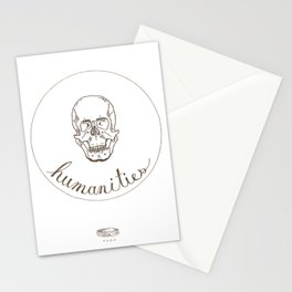 humanities skull Stationery Cards