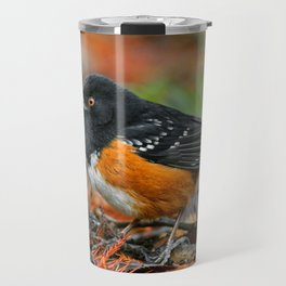 Profile of a Spotted Towhee Travel Mug