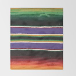 MEXICAN SERAPE Throw Blanket