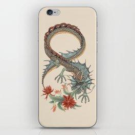 Botanical Flower Dragon 8 iPhone Skin