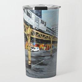 On a Chicago Street Corner Travel Mug