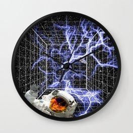 Cosmic Storm Wall Clock
